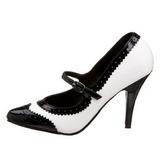 Nero Bianco 10,5 cm VANITY-442 scarpe décolleté con tacchi bassi