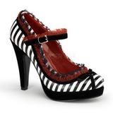 Nero Bianco 11,5 cm BETTIE-18 Scarpe da donna con tacco altissime