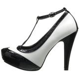 Nero Bianco 11,5 cm BETTIE-22 Scarpe da donna con tacco altissime