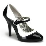 Nero Bianco 11,5 cm TEMPT-07 Scarpe da donna con tacco altissime