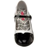 Nero Bianco 11,5 cm rockabilly TEMPT-07 Scarpe da donna con tacco altissime