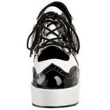 Nero Bianco 11 cm GANGSTER-15 Scarpe da donna con tacco altissime