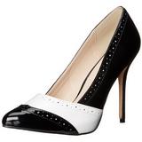 Nero Bianco 13 cm AMUSE-26 Scarpe da donna con tacco altissime