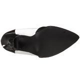 Nero Bianco 13 cm SEDUCE-425 Tacchi altissimi da uomo