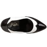 Nero Bianco 13 cm SEDUCE-425 scarpe décolleté con tacchi bassi