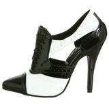 Nero Bianco 13 cm SEDUCE-458 Oxford Scarpe donna con tacco altissime
