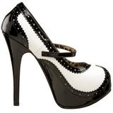 Nero Bianco 14,5 cm Burlesque TEEZE-02 Scarpe da donna con tacco altissime