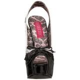 Nero Bianco 14,5 cm Burlesque TEEZE-17 Scarpe da donna con tacco altissime