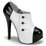 Nero Bianco 14,5 cm Burlesque TEEZE-20 Scarpe da donna con tacco altissime