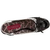Nero Bianco 14,5 cm TEEZE-17 Scarpe da donna con tacco altissime