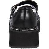 Nero Bianco 5 cm EMILY-302 scarpe lolita donna gotico suola spessa