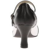 Nero Bianco 7,5 cm retro vintage FLAPPER-25 scarpe décolleté con tacchi bassi