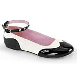 Nero Bianco STAR-22 scarpe gotico ballerine tacco basse