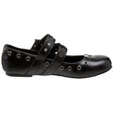 Nero DAISY-03 scarpe gotico ballerine tacco basso