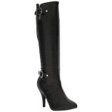 Nero Ecopelle 10 cm DREAM-2030 grandi taglie stivali donna