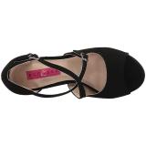 Nero Ecopelle 10 cm DREAM-412 grandi taglie sandali donna