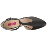 Nero Ecopelle 10 cm DREAM-425 grandi taglie scarpe décolleté