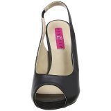 Nero Ecopelle 12,5 cm EVE-04 grandi taglie sandali donna