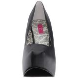 Nero Ecopelle 14,5 cm Burlesque TEEZE-06W scarpe décolleté per piedi larghi da uomo