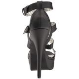 Nero Ecopelle 14,5 cm Burlesque TEEZE-42W tacco alto per piedi larghi da uomo
