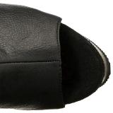 Nero Ecopelle 15 cm DELIGHT-3019 plateau suola stivali alti lunghi con tacco
