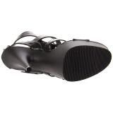 Nero Ecopelle 15 cm DELIGHT-658 scarpe pleaser con plateau e tacco alto