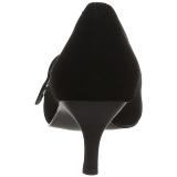Nero Ecopelle 6,5 cm KITTEN-03 grandi taglie scarpe décolleté