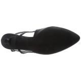 Nero Ecopelle 6 cm KITTEN-02 grandi taglie scarpe décolleté