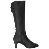 Nero Ecopelle 7,5 cm DIVINE-2018 grandi taglie stivali donna