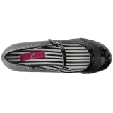 Nero Ecopelle 7,5 cm JENNA-06 grandi taglie scarpe décolleté
