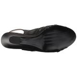 Nero Ecopelle 7,5 cm KIMBERLY-01SP grandi taglie sandali donna