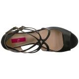 Nero Ecopelle 7,5 cm KIMBERLY-04 grandi taglie sandali donna