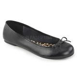 Nero Ecopelle ANNA-01 grandi taglie scarpe ballerine