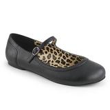 Nero Ecopelle ANNA-02 grandi taglie scarpe ballerine
