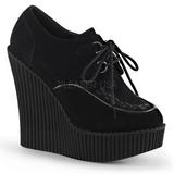 Nero Ecopelle CREEPER-302 scarpe creepers zeppe altissime