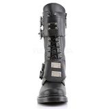 Nero Ecopelle DEFIANT-302 Stivali con Fibbie da Uomo