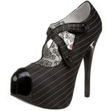 Nero Gessato 14,5 cm Burlesque TEEZE-23 Scarpe da donna con tacco altissime
