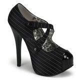 Nero Gessato 14,5 cm TEEZE-23 Scarpe da donna con tacco altissime