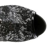 Nero Lustrini 15 cm PLEASER BLONDIE-R-3011 Stivali Overknee Plateau