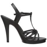 Nero Matto 12 cm FLAIR-420 scarpe tacco alto numeri grandi per uomo