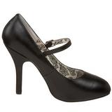 Nero Matto 12 cm rockabilly TEMPT-35 scarpe décolleté con tacchi bassi
