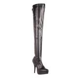 Nero Matto 13,5 cm INDULGE-3063 Stivali alti e sopra al ginocchio