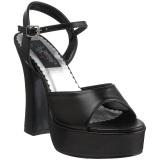 Nero Matto 13 cm DOLLY-09 scarpe tacco alto numeri grandi per uomo