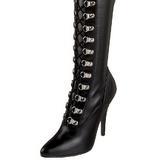 Nero Matto 13 cm SEDUCE-3024 Stivali alti e sopra al ginocchio