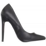 Nero Matto 13 cm SEXY-20 scarpe tacchi a spillo con punta