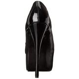 Nero Matto 14,5 cm Burlesque TEEZE-20 Scarpe da donna con tacco altissime