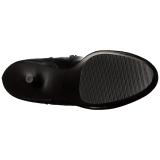 Nero Matto 15,5 cm DELIGHT-3000 Stivali alti e sopra al ginocchio