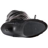 Nero Matto 15 cm DELIGHT-3025 plateau suola stivali alti lunghi con tacco