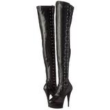 Nero Matto 15 cm DELIGHT-3050 plateau suola stivali alti lunghi con tacco