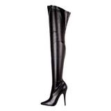 Nero Matto 15 cm DOMINA-3000 Stivali alti e sopra al ginocchio